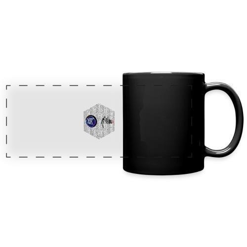 disen o dos canales cubo binario logos delante - Full Colour Panoramic Mug