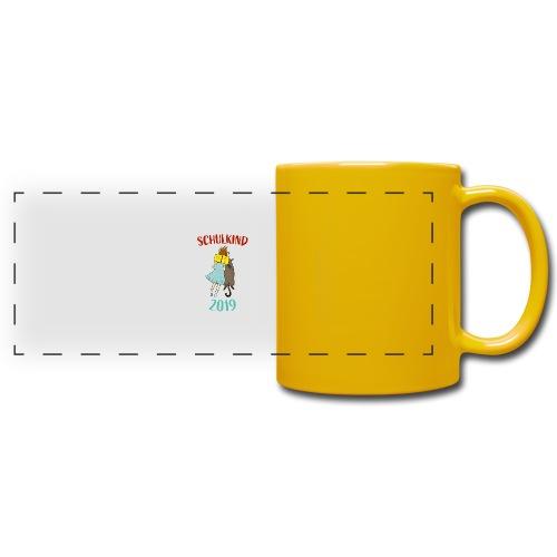 Schulkind 2019   Einschulung und Schulanfang - Panoramatasse farbig