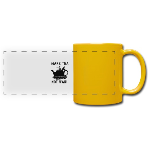 Make Tea not War! - Full Color Panoramic Mug