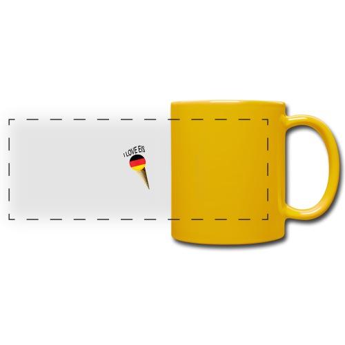 Fußball WM Fan Geschenk - Panoramatasse farbig
