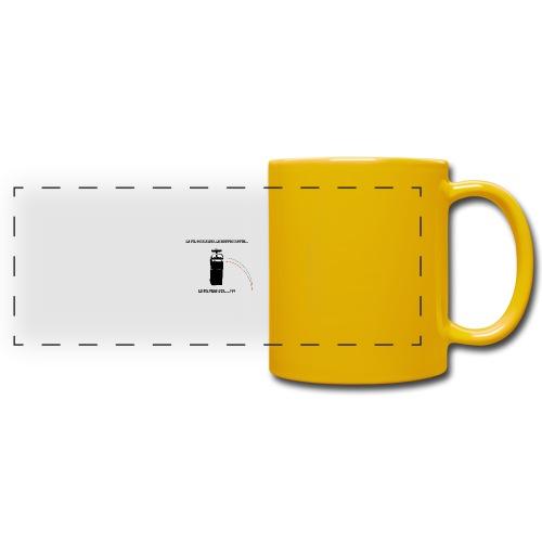 le fil rouge sur le bouton rouge - Mug panoramique uni