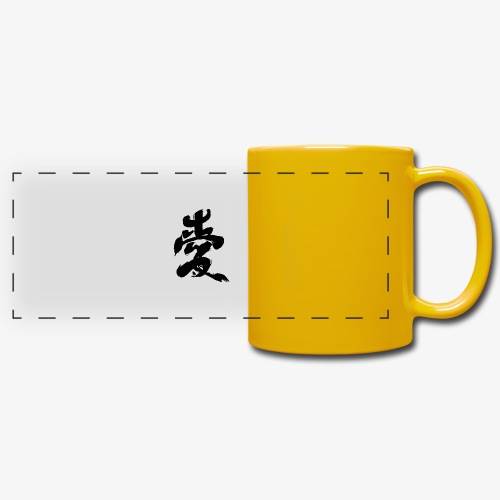 Japanese Kanji - Tazza colorata con vista
