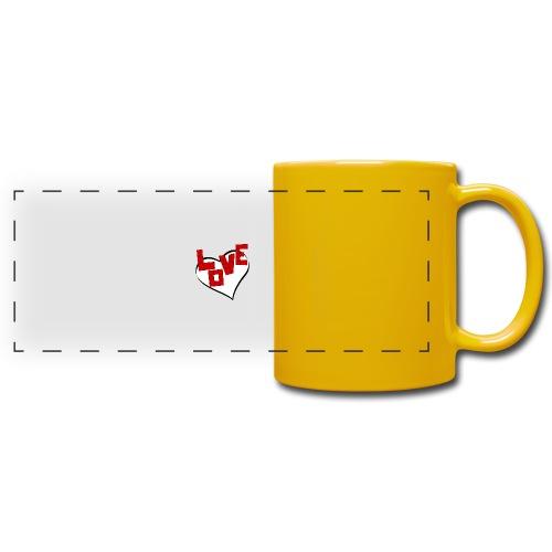 scritta love puzzle - Tazza colorata con vista