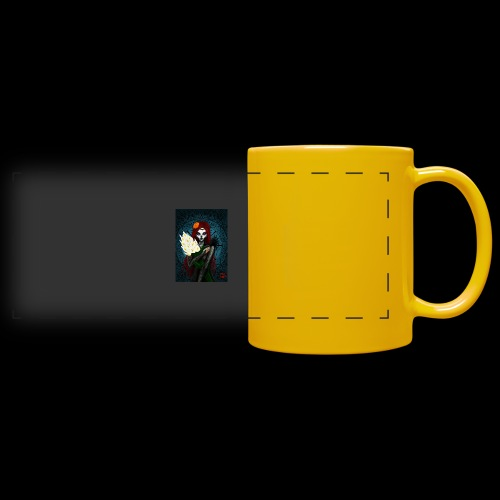 Death and lillies - Full Color Panoramic Mug