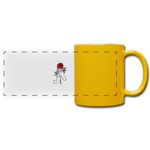 Fiore rosso - Tazza colorata con vista