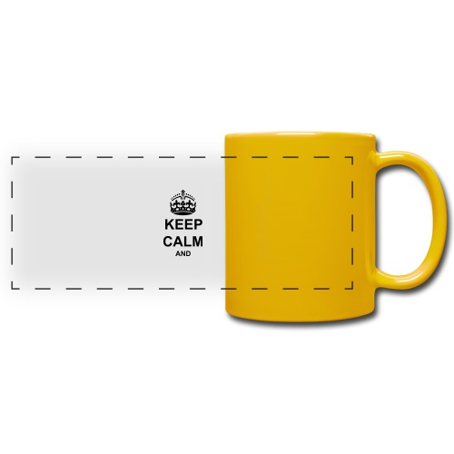 Keep Calm And Your Text Best Price - Full Color Panoramic Mug