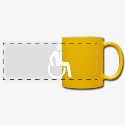 Sjieke rolstoel gebruiker symbool - Panoramamok gekleurd