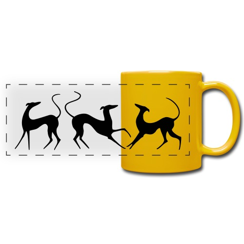 Windhundfries - Panoramatasse farbig