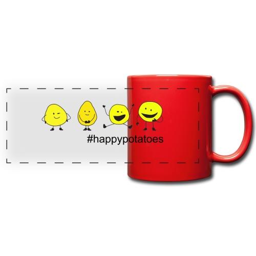 4 smilies - Panoramatasse farbig
