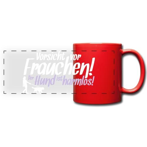 Vorsicht vor Frauchen! /Hunde Design Geschenkidee! - Panoramatasse farbig