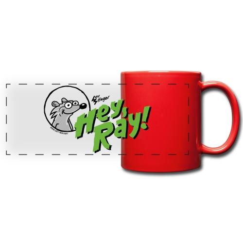 Hey Ray Logo green - Panoramatasse farbig
