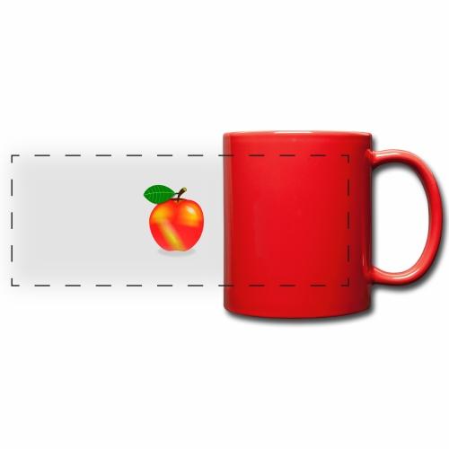 Apfel - Panoramatasse farbig