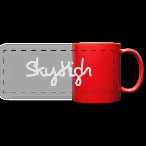 SkyHigh - Men's T-Shirt - Gray Lettering - Full Color Panoramic Mug