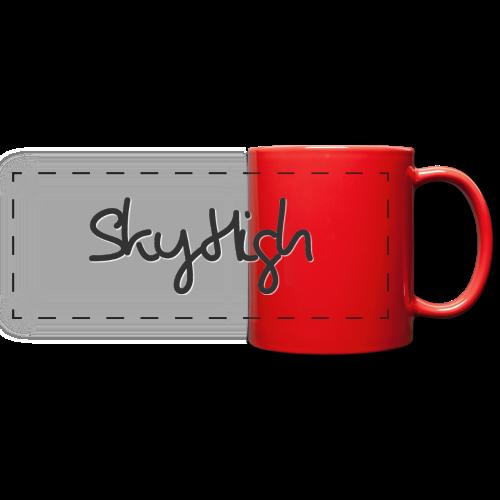 SkyHigh - Men's Premium T-Shirt - Black Lettering - Full Color Panoramic Mug