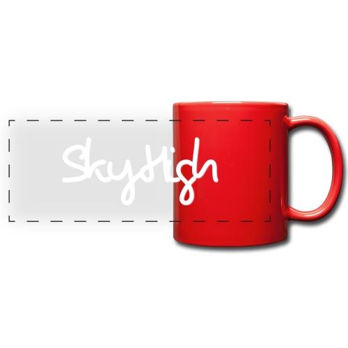 SkyHigh - Men's Premium T-Shirt - White Lettering - Full Color Panoramic Mug