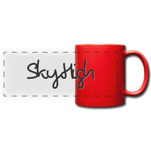 SkyHigh - Men's Premium Hoodie - Black Lettering - Full Color Panoramic Mug