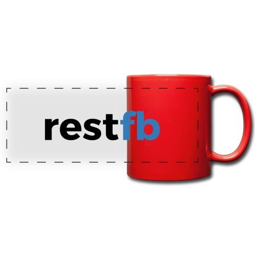 RestFB logo black - Full Color Panoramic Mug