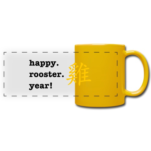 happy rooster year - Full Color Panoramic Mug