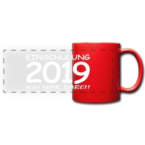 Einschulung 2019 - Panoramatasse farbig