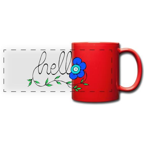 Hello Blume. - Panoramatasse farbig