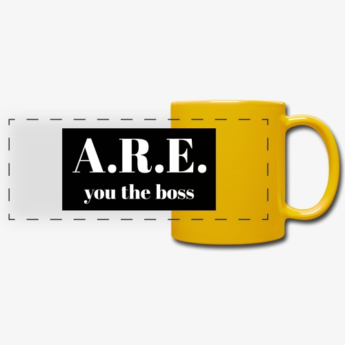 AREyou the boss - Full Color Panoramic Mug