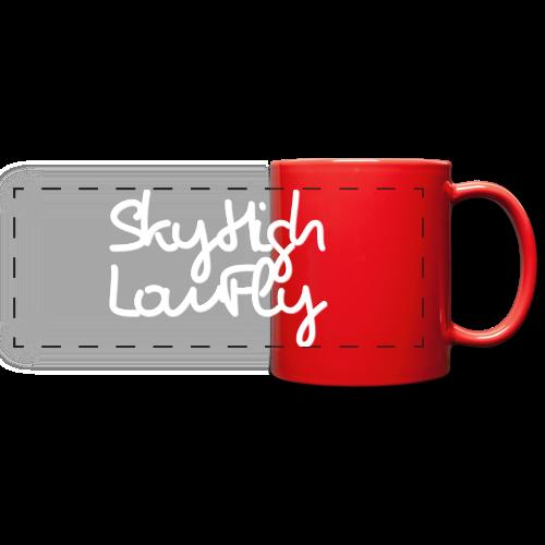 SkyHighLowFly - Bella Women's Sweater - White - Full Color Panoramic Mug