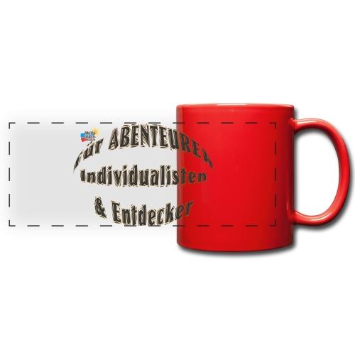 Abenteurer Individualisten & Entdecker - Panoramatasse farbig