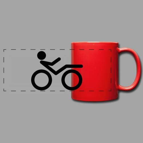 Recumbent bike black 2 - Panoraamamuki värillinen