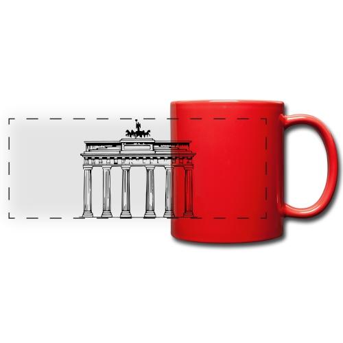 Brandenburger Tor Berlin Victoria Streitwagen - Panoramatasse farbig