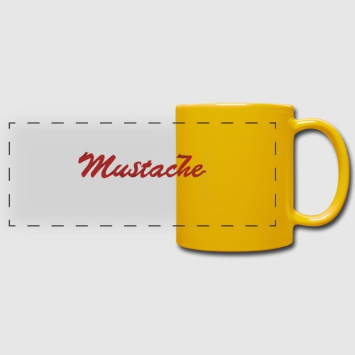 Red Mustache Lettering - Full Color Panoramic Mug
