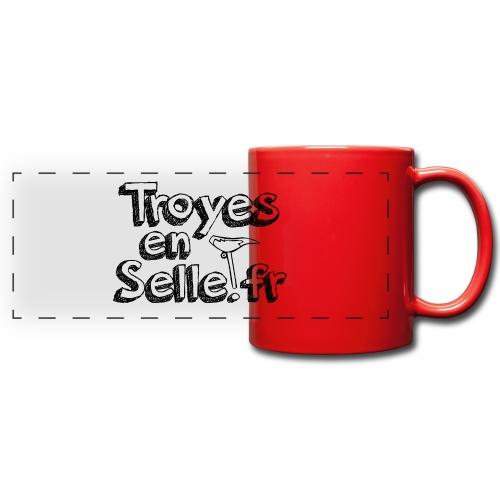 logo Troyes en Selle noir - Mug panoramique uni