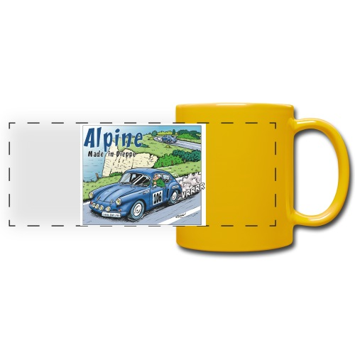 Polete en Alpine 106 - Mug panoramique uni