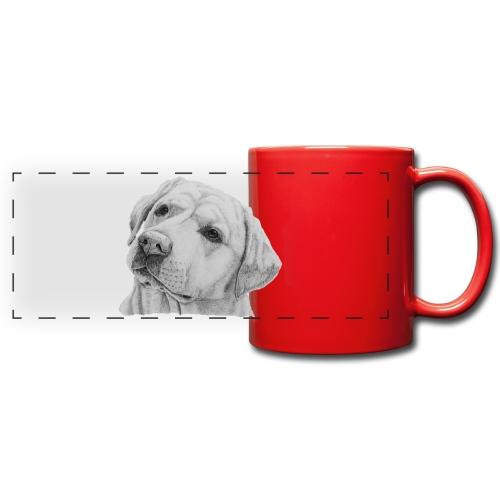 labrador retriever yellow - head - Panoramakrus, farvet