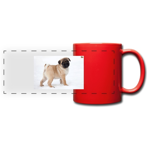 walker family pug merch - Full Color Panoramic Mug