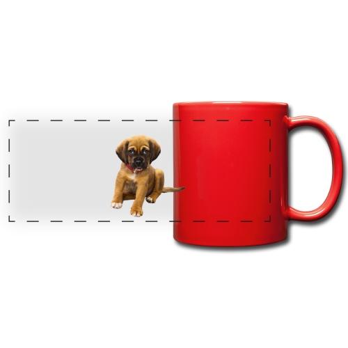 Süsses Haustier Welpe - Panoramatasse farbig