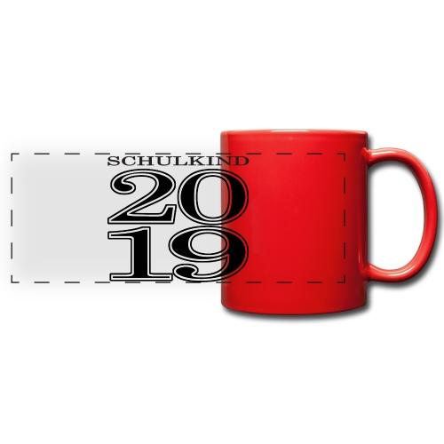 Schulkind 2019 - Panoramatasse farbig