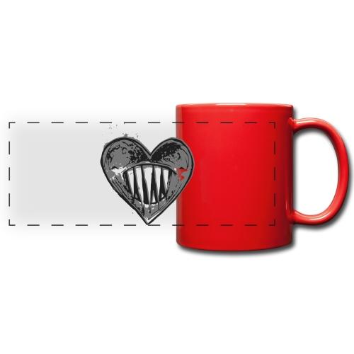 Corazón Negro - Taza panorámica de colores