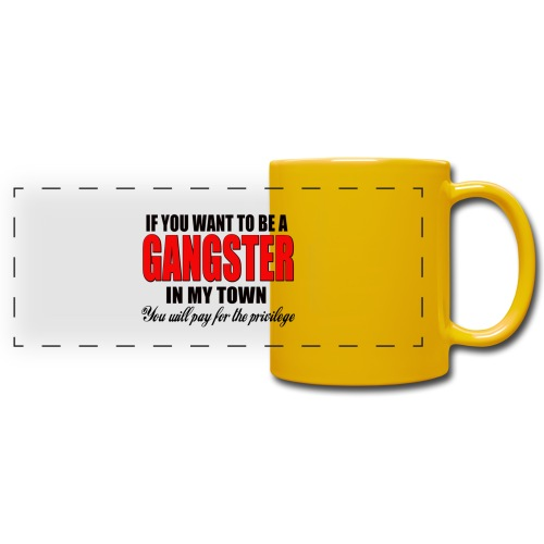 ville gangster - Mug panoramique uni