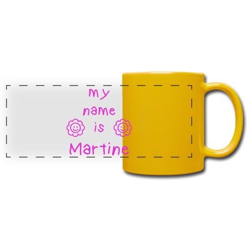 MARTINE MY NAME IS - Mug panoramique uni