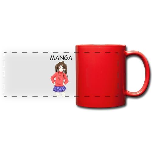 Anime girl 02 Text Manga - Panoramatasse farbig