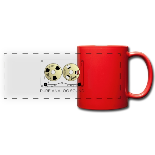 Reel gold cassette white - Full Color Panoramic Mug