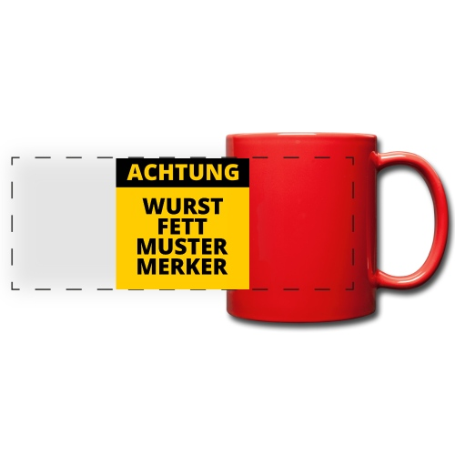Achtung - Wurstfett! - Taza panorámica de colores