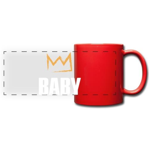 Baby mit Krone - Panoramatasse farbig