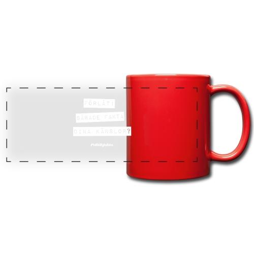 Fakta vs Känslor - Färgad panoramamugg