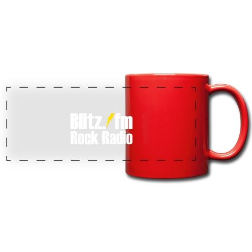 BLITZ FM TSHIRT Schwarz - Panoramatasse farbig