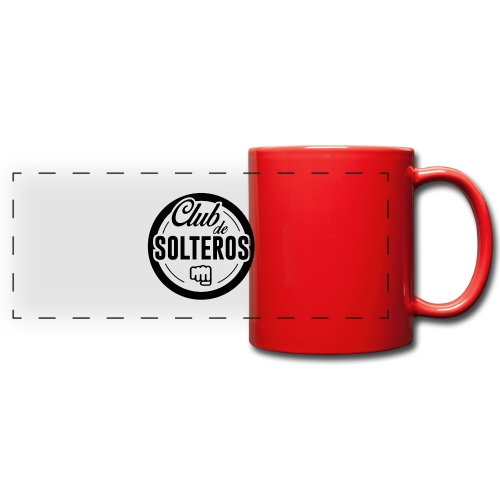 Club de Solteros (logo negro) - Taza panorámica de colores