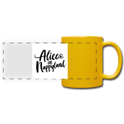 Alice in Nappyland Typography Black 1080 1 - Full Color Panoramic Mug