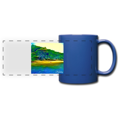 Tropical beach - Tazza colorata con vista