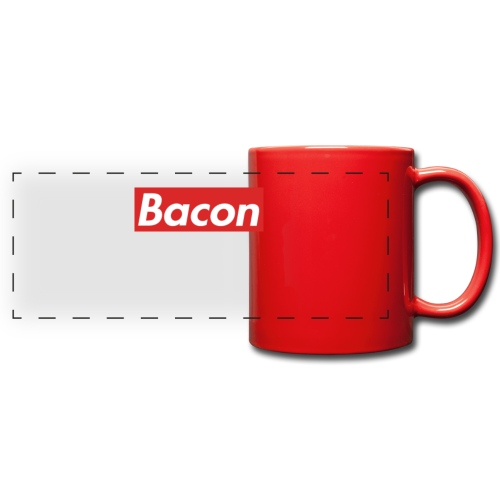 Bacon - Färgad panoramamugg