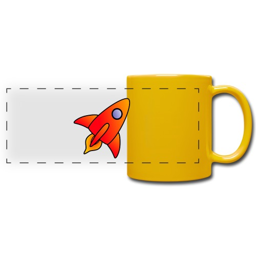 Red Rocket - Full Color Panoramic Mug